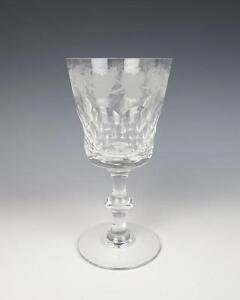 Edinburgh Crystal LOCHNAGAR Wine Water Goblet Cut Etched Grape Glass Red White