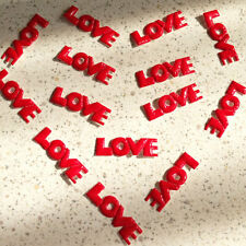 300 PVC Padded Red Love Letter Appliques Wedding Decor Card Craft Scrapbook