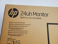 HP 24uh LED LCD Monitor. LED full HD. VGA DVI-D HDMI