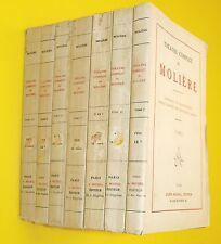 Théâtre complet de Molière - 7 Tomes illustrés - 1931 !!!