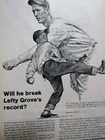 1961 Lefty Grove EQUITABLE-Original Print Ad 8.5 x 11""