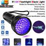 UV Scorpion Blacklight Detector Torch Ultra Violet Flashlight Finder Hunter lamp