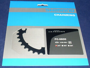 Y1P434000 Shimano Ultegra FC-6800  34T MA Chainring 2x11 speed 50-34T 110mm BCD