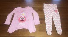 Nick Jr. Yo Gabba Gabba Toddler Girl Foofa Shirt & Pants Outfit Set New 4T