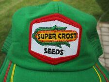 vintage Super Crost Seed Corn Patch Snap Back Mesh Hat Kap King USA
