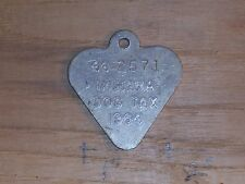 Vintage Dog License Tax Tag State of Indiana IN County 44 2571  yr 1964    dg27