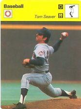 TOM SEAVER 1977 Sportscaster Card #01-21 NEW YORK METS