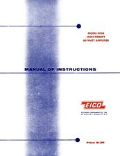 EICO Model HF-60 Hi-Fi Amplifier Operating and Construction Manual