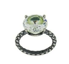 Stunning Bottega Veneta 10.49 carat Round Cubic Zirconia Sterling Silver Ring 6
