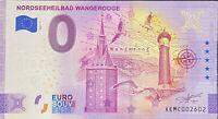 BILLET 0  EURO NORDSEEHEILBAD WANGEROOGE ANNIVERSARY ALLEMAGNE 2021 N° DIVERS