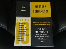 1962 BIG TEN COLLEGE TRACK AND FIELD  CHAMPIONSHIPS PROGRAM  LAFAYETTE INDIANA
