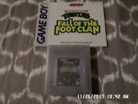 "Teenage Mutant Ninja Turtles  ""Fall Of The Foot Clan"" w/ Manual Gameboy Game GB"
