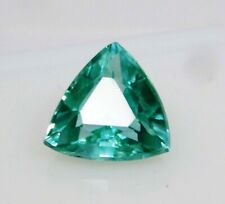 Natural CERTIFIED Trillion Cut Grandidierite Bluish Green Loose Gemstone 3 Ct