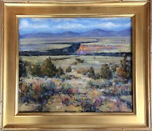 Taos New Mexico Art Framed Signed Original Oil Painting Royal Gorge Autumn