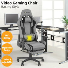 Gaming Chair Office Racing Computer Desk Seat Recliner Footrest Swivel Vibration