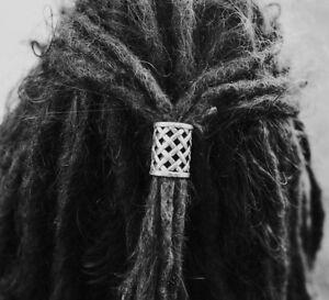 2 XL Tibetan Silver Weave Dreadlock Beads Dread Tie Large 18mm Hole (11/16 Inch)