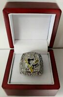 Sidney Crosby - 2009 Pittsburgh Penguins Stanley Cup Hockey Ring With Wooden Box