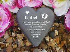 Heart Memorial - Personalised - Weatherproof - Baby Feet Design