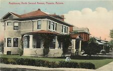 1910s Hand-Colored Postcard; Second Avenue Residences Phoenix AZ Posted
