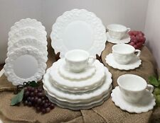 Westmoreland Paneled Grape Milk Glass Dinnerware Pattern #1881 (20 Piece Lot)