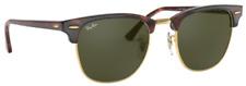 Ray-Ban Damen Herren Sonnenbrille RB3016 W0366 49mm Clubmaster braun gold A5