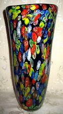 """Unique LARGE Rare Millefiori Vase standing 13"""" inches in Height, Cobalt Blue"""