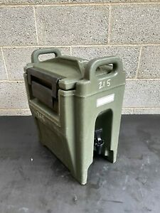 British Army Cambro Food Drink Insulated Container Dispenser 10.4L Hot Cold F...