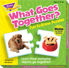 Trend Enterprises What Goes Together 2-Piece Puzzles, Assorted Themes, Set of 24