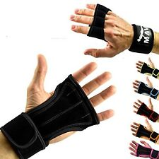 Leather Padding gloves w/ Wrist Support WODs - Cross Training by Mava Sports