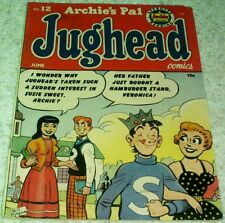 Archie's Pal Jughead Comics 12, (FN/VF 7.0) 1952 Almost White Pages! NICE!