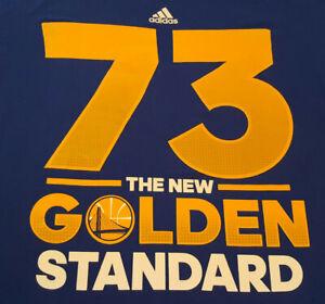 """Golden State Warriors """"New Golden Standard"""" T Shirt Medium Curry 73 NBA INV1876"""