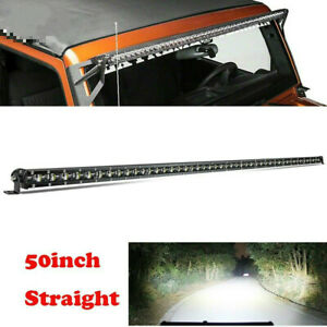 50 Inch Slim LED Light Bar Flood/Spot Combo fit for Jeep Wrangler JL YJ TJ JK