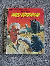 Little Golden Book: Marlin Perkins': Wild Kingdom, A Can-You-Guess Book 1976