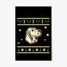 "Christmas Black And Tan Coonhound Gift Poster - 24""x36"""
