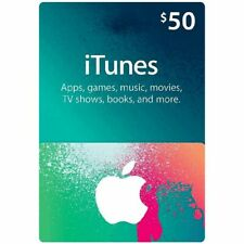 iTunes Gift Card $50 USD Key - 50 Dollar US Apple Store Code Digital - US
