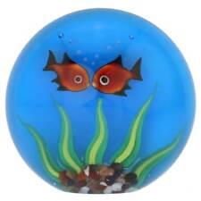 GlassOfVenice Murano Glass Aquarium With Goldfish