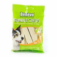 Vegan Vegetarian Low Fat Dog Treats Food Benevo Rumble Strips 180g Vege Dog Chew