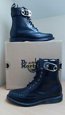 Dr Martens Geordin Pointed Black Smooth Leather Boots UK4 EU37 US6 Doc Martins