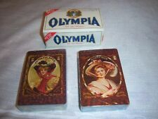 Olympia Beer Playing Cards-Victorian Pin-up Girls New in Box Vintage 2 Decks 2nd