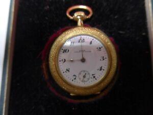 Antike Damen-Taschenuhr-KAMA, Chaux-de-Fonds-14k Gold
