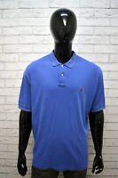 Polo Blu Maglia RALPH LAUREN Uomo Taglia Forte Maglietta Manica Corta Shirt Big