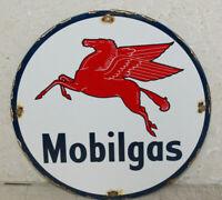 Mobilgas Oil Vintage Style Porcelain Signs Gas Pump Plate Man Cave Station