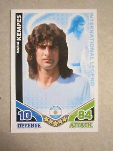 Match Attax World Cup 2010 - International Legend - Mario Kempes of Argentina