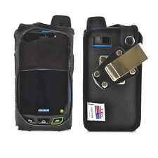 Sonim XP7 Nylon Fitted Phone Case w Rotating Metal Belt Clip - Half Screen Cover