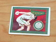 1909-10 T51 Vermont Catamounts Track Discuss Murad Tobacco College Series Card