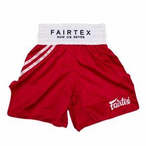 """Fairtex Muay Thai Boxing Shorts Trunks - BT2008 """" Red """""""