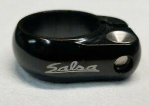 Salsa Lip Lock bolton seat post clamp 30.6mm black aluminum w/stainless hardware