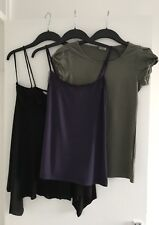 3x Ladies Purple Kaliko,Black Atmosphere & GreenOasis Vest Tops &Body-UK 12 & 10