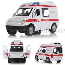 Alloy Model Toys 1:32 Diecast Car White Ambulance Vehicles With Light & Sound