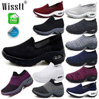 Womens Ladies Mesh Breathable Air Slip On Trainers Sneakers Sport Running Shoes